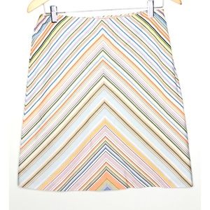 Milly Multicolored stripe short skirt Size 4